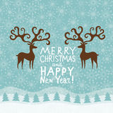 Greeting Christmas and New Year card Stock Photography