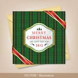 Greeting Christmas and New Year card. Stock Photo