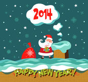 Greeting Christmas and New Year card. Royalty Free Stock Photos