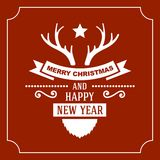 Greeting Christmas and New Year Card. Vector Stock Photos