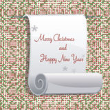 Greeting Christmas and New Year card Royalty Free Stock Photo