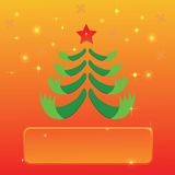 Greeting with Christmas tree Royalty Free Stock Photography