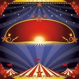 Greeting circus flyer Stock Photos