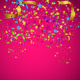 Greeting crad with confetti Royalty Free Stock Photo