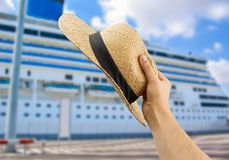 Greeting the cruise ship's people Royalty Free Stock Photos