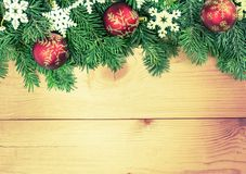 Greeting. Decoration aerial copy bows overhead view Stock Image