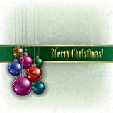 Greeting with decorations on grunge background Royalty Free Stock Photography