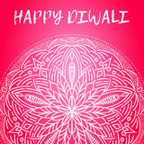 Greeting design card for Hindu community festival Happy diwali background illustration Stock Image