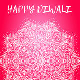 Greeting design card for Hindu community festival Happy diwali background illustration Stock Images