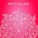 Greeting design card for Hindu community festival Happy diwali background illustration Royalty Free Stock Images