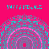 Greeting design card for Hindu community festival Happy diwali background illustration Royalty Free Stock Image