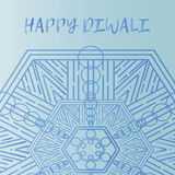 Greeting design card for Hindu community festival Happy diwali background illustration Royalty Free Stock Photo