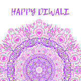 Greeting design card for Hindu community festival Happy diwali background illustration Stock Photography