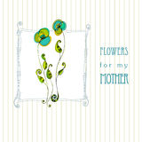 Greeting design for mother's day Royalty Free Stock Photo