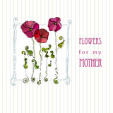 Greeting design for mother's day Royalty Free Stock Photography