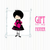 Greeting design for mother's day Stock Photo