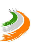 A greeting draw with Indian flag colors. Royalty Free Stock Images