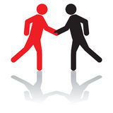 Greeting each other, or, shaking hands on a deal. Business concept - greeting each other, or, shaking hands on a deal stock illustration