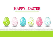 Greeting Easter card with eggs. Royalty Free Stock Photo
