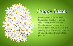 Greeting Easter card with white daisies royalty free illustration
