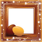 Greeting Easter photo frame in style scrapbooking Stock Photography