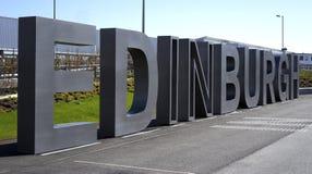 Greeting at Edinburgh airport Stock Image