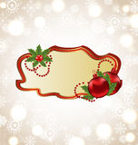 Greeting elegant card with Christmas ball Royalty Free Stock Image