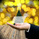 Greeting email in Christmas day Stock Photos