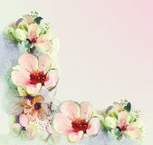 Greeting floral card in pastel colors Stock Photos