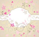 Greeting floral card Stock Photos