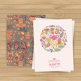 Greeting floral card. Tea Branding Design. Coffee and Tea design Stock Photo
