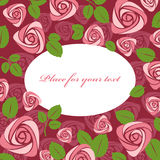Greeting floral rose card Royalty Free Stock Photo