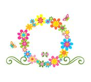 Greeting flower wreath Royalty Free Stock Photos