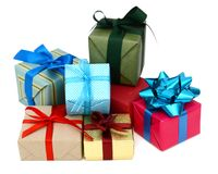 Greeting gift boxes Stock Photography