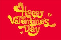 Greeting card, happy Valentine`s day greeting vector image. A gift for a loved one. Greeting gift, happy Valentine`s day greeting vector image. A gift for a Royalty Free Stock Photography
