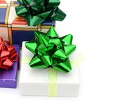 Greeting gifts background Royalty Free Stock Photos