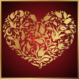 Greeting gold heart elements for design. Vector illustration. Royalty Free Stock Photos