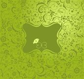 Greeting green card Royalty Free Stock Photo