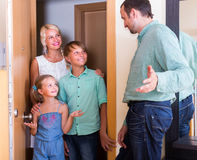 Greeting guests at the door Stock Image