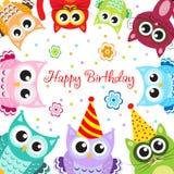 Greeting, happy birthday baby animals Royalty Free Stock Photo