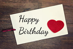 Greeting happy birthday Royalty Free Stock Photo