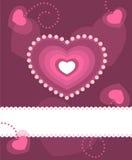 Greeting Heart card stock photo