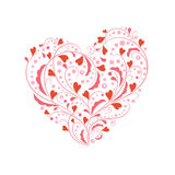 Greeting heart shape. Greeting red and pink heart shape Stock Photography