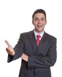 Greeting hispanic businessman Stock Photo