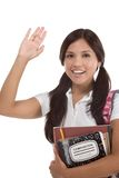 Greeting Hispanic College student Stock Photos