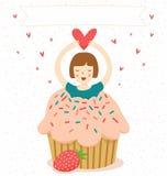 Greeting illustration Stock Image