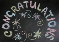 Greeting inscription in chalk Stock Photos