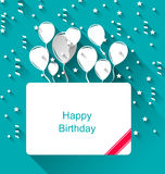 Greeting Invitation with Balloons for Happy Birthday Royalty Free Stock Image