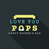 Greeting or invitation card for Fathers Day celebration. Stock Photography
