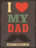 Greeting or invitation card for Fathers Day. Stock Photo